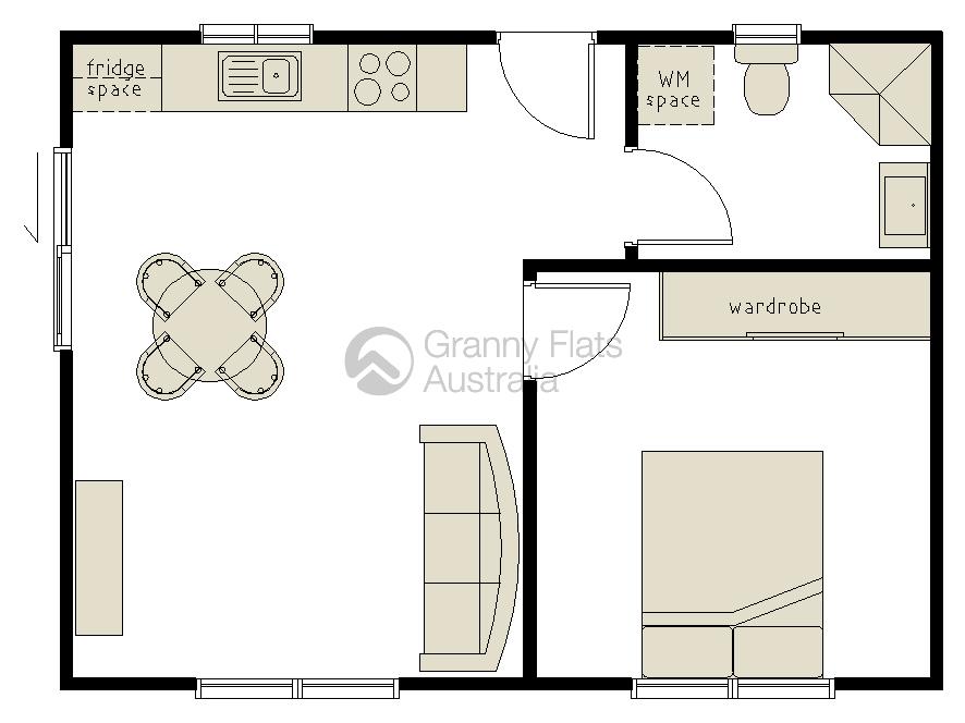 1 Bedroom Granny Flat Designs Granny Flats Australia