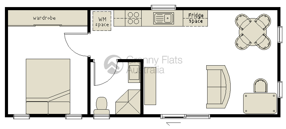 1 bedroom granny flat granny flats australia for 1 bedroom granny flat floor plans