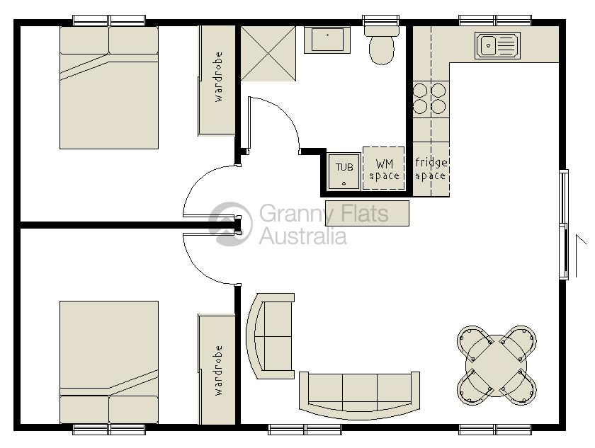 2 bedroom granny flat granny flats australia for 2 bedroom flat design plans